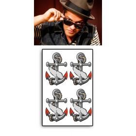 Bruno Mars tattoos temporaires Ancres