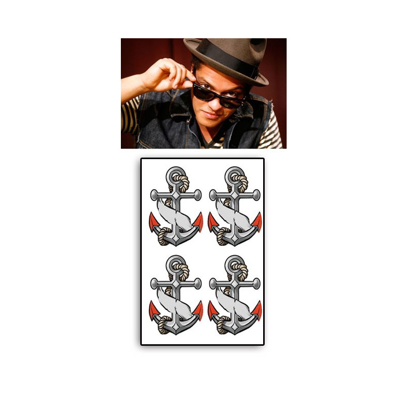 Bruno Mars tattoos temporaires Ancres
