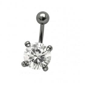 Piercing nombril cristal 1 cm 4 griffe