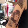 tatouage temporaire geisha pour le bras