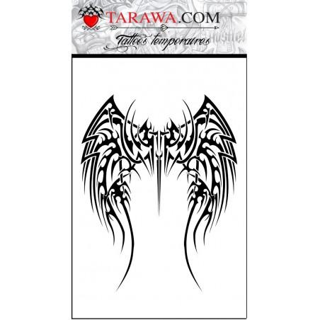 Tatouage ailes ange tribal autocollant geant