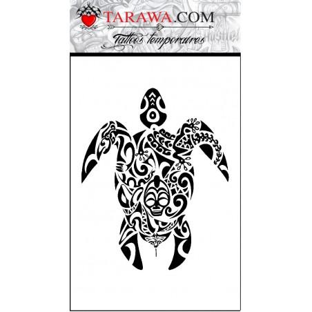 Tatouage tortue maori géante