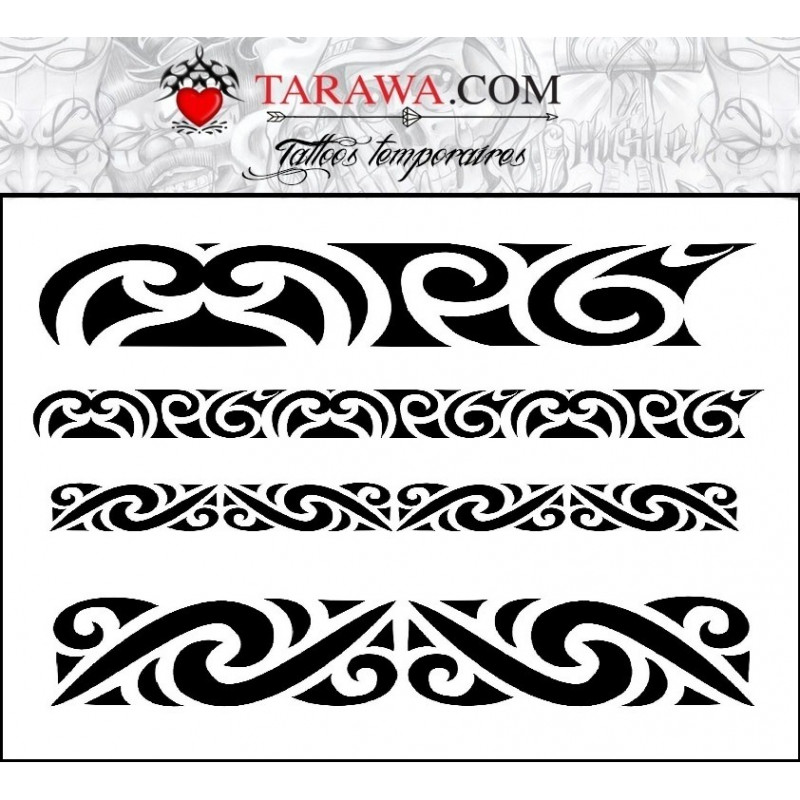 tatouage temporaire bracelet maori. Black Bedroom Furniture Sets. Home Design Ideas