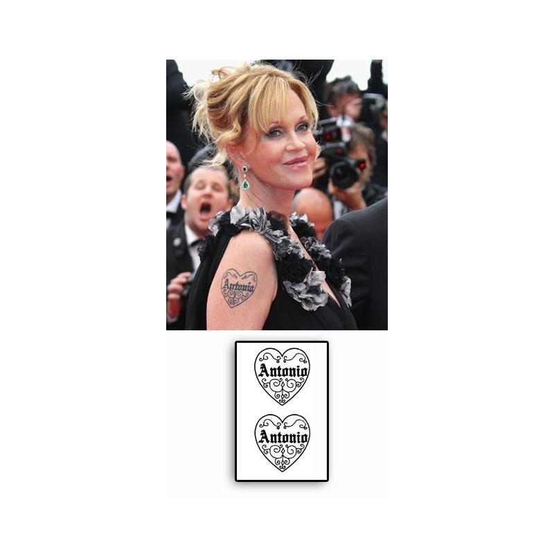 Melanie Griffith Tattoo Coeur Antonio Banderas