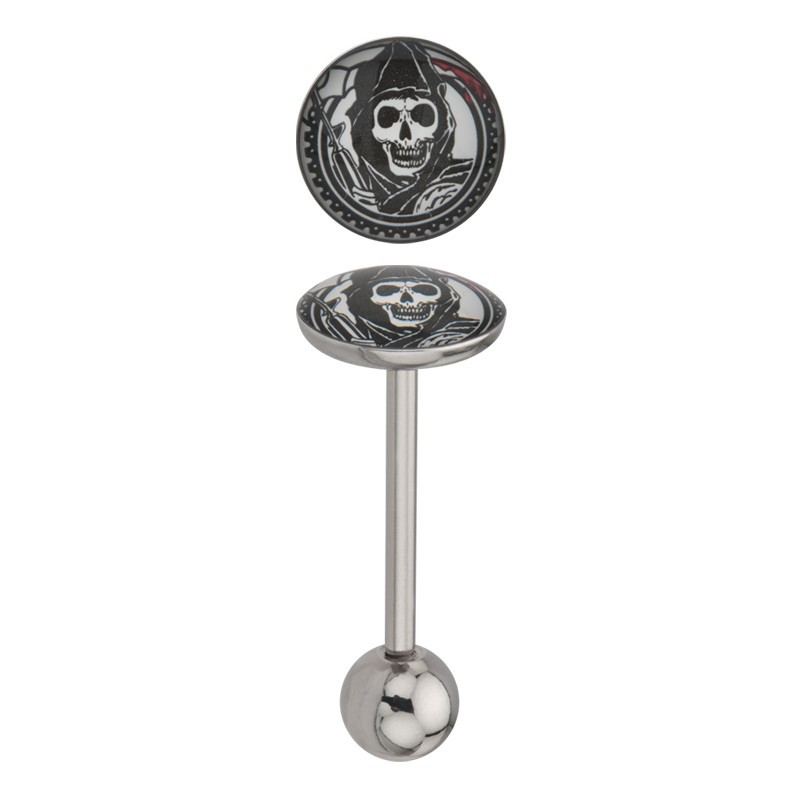 Piercing langue grim reaper SOA plat sons of anarchy