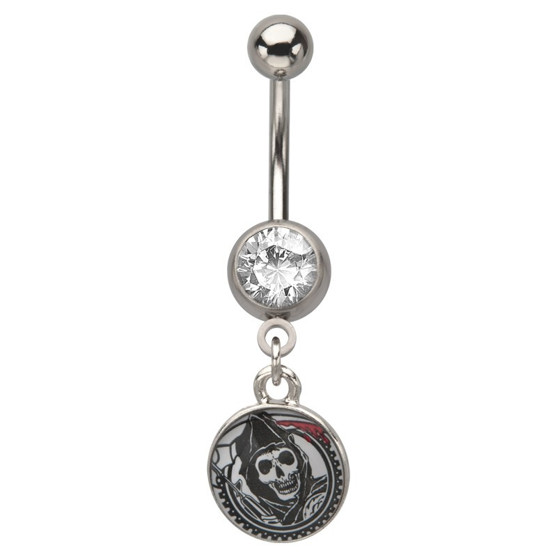 Piercing nombril pendant Grim Reaper sons of anarchy