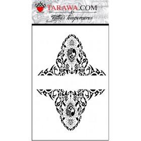Tatouage temporaire maori tour de bras et tortue