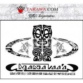 Tatouage autocollant totem Maori