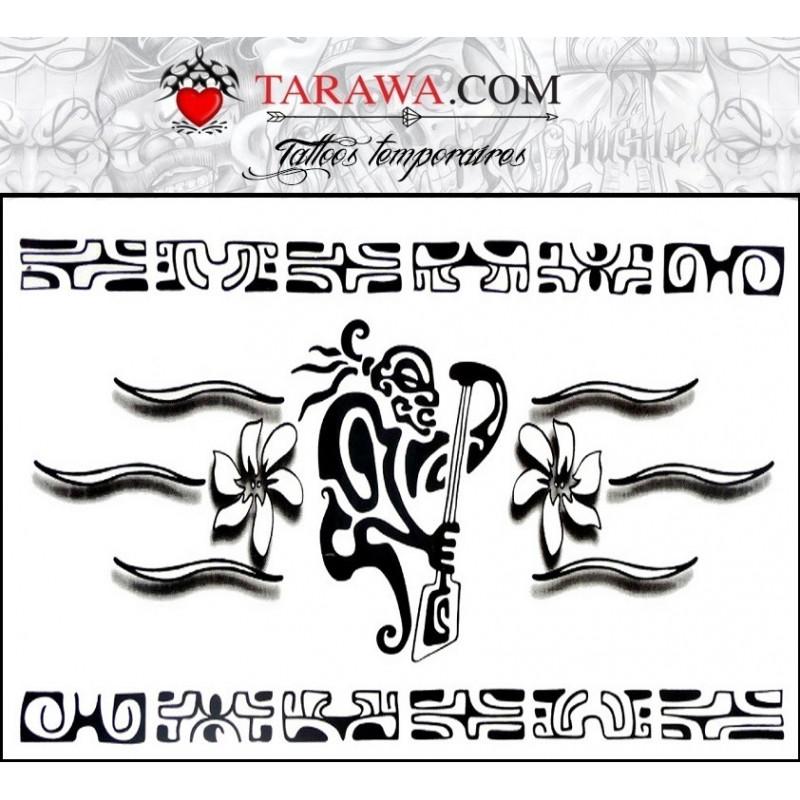 Tatouage temporaire bracelet Maori et Polynésien