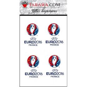 Tatouage temporaire euros 2016