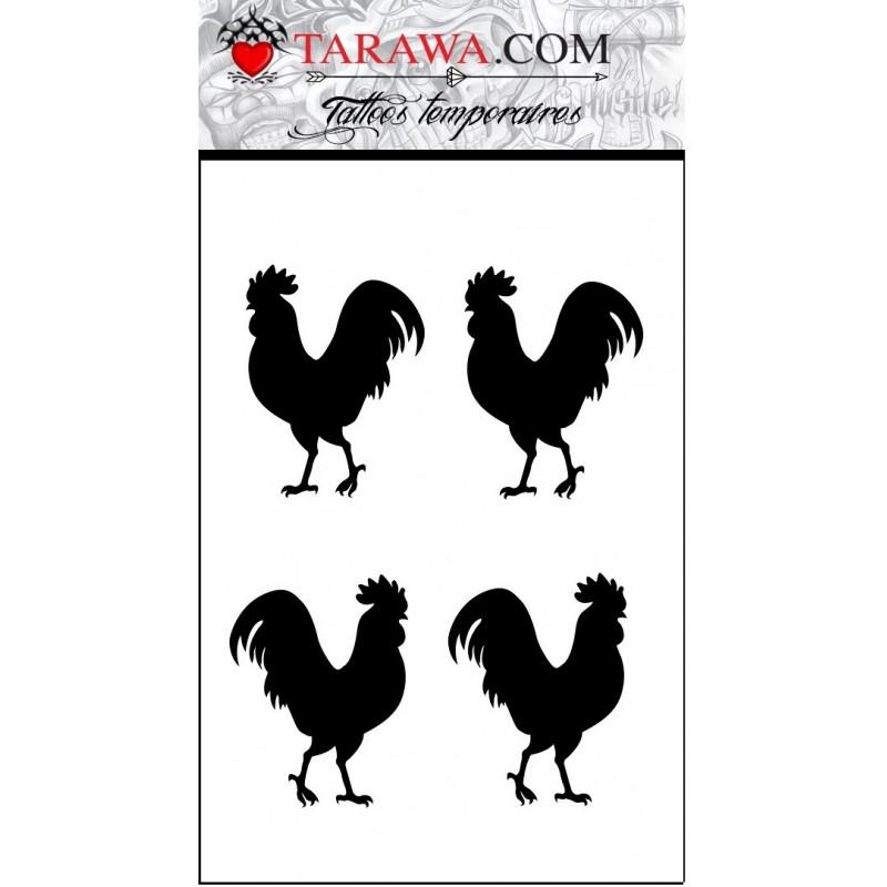 faux tatouage coq Français