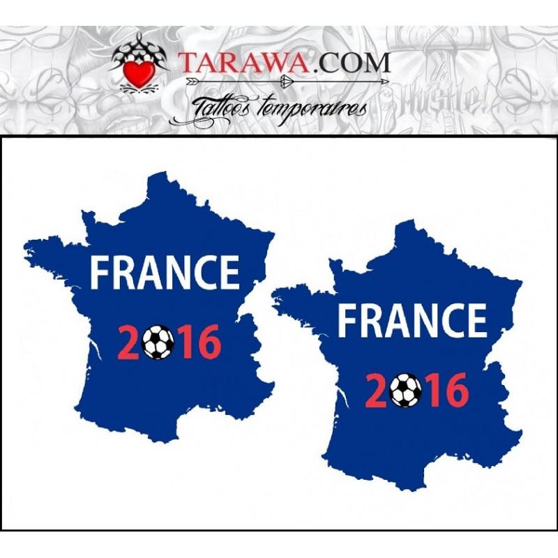 Tatouage éphémère coupe d'Europe 2016