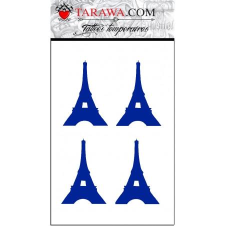 Tatouage temporaire tour Eiffel bleu