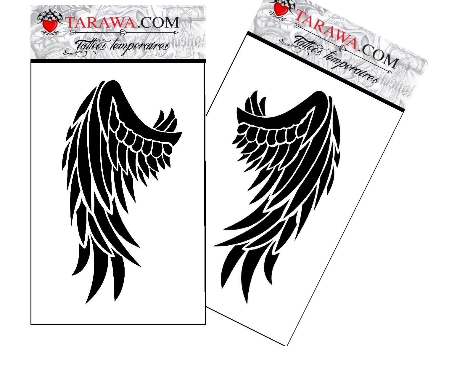 Tatouage ephemere - Tatouage ailes d ange ...