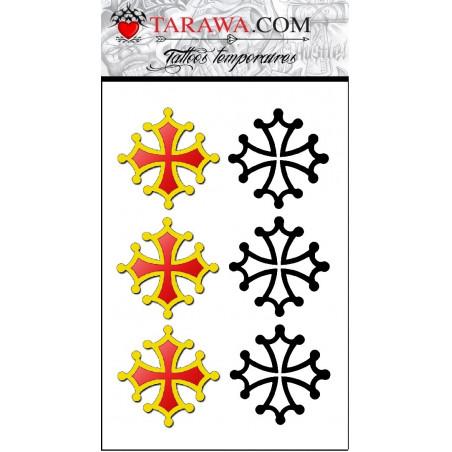 Tatouage temporaire croix occitane