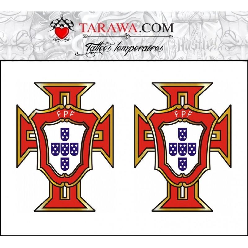 Tatouage temporaire croix Portuguaise