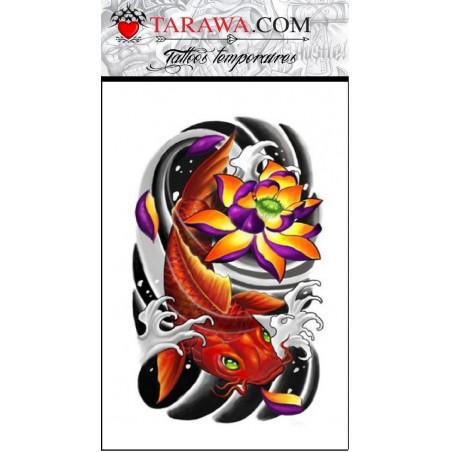 Faux tatouage carpe koi japonaise