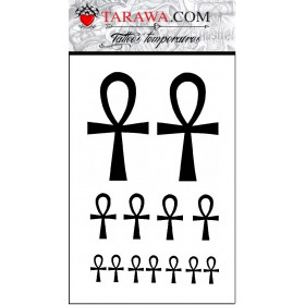 Tatouage temporaire croix de vie égyptienne