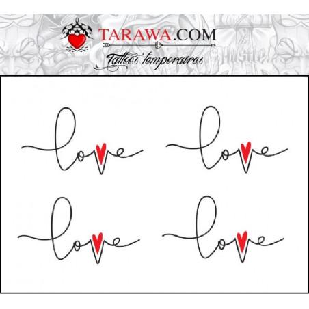 Tatouage écriture Love