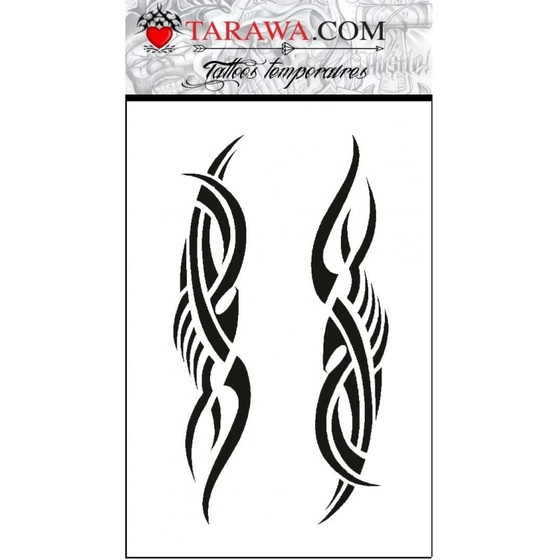 Tatouage temporaire long tribal