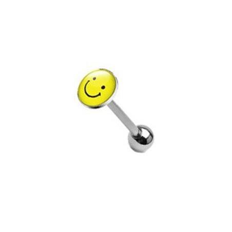 Piercing langue logo smiley