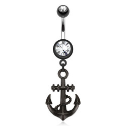 Piercing nombril Ancre marine Blackline