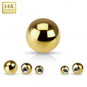 bille de piercing en or massif