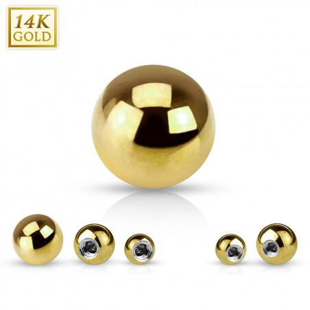 Bille piercing or jaune 14k 1,2mm