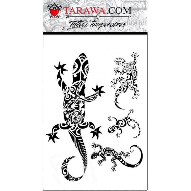 décalcomanie gecko maori