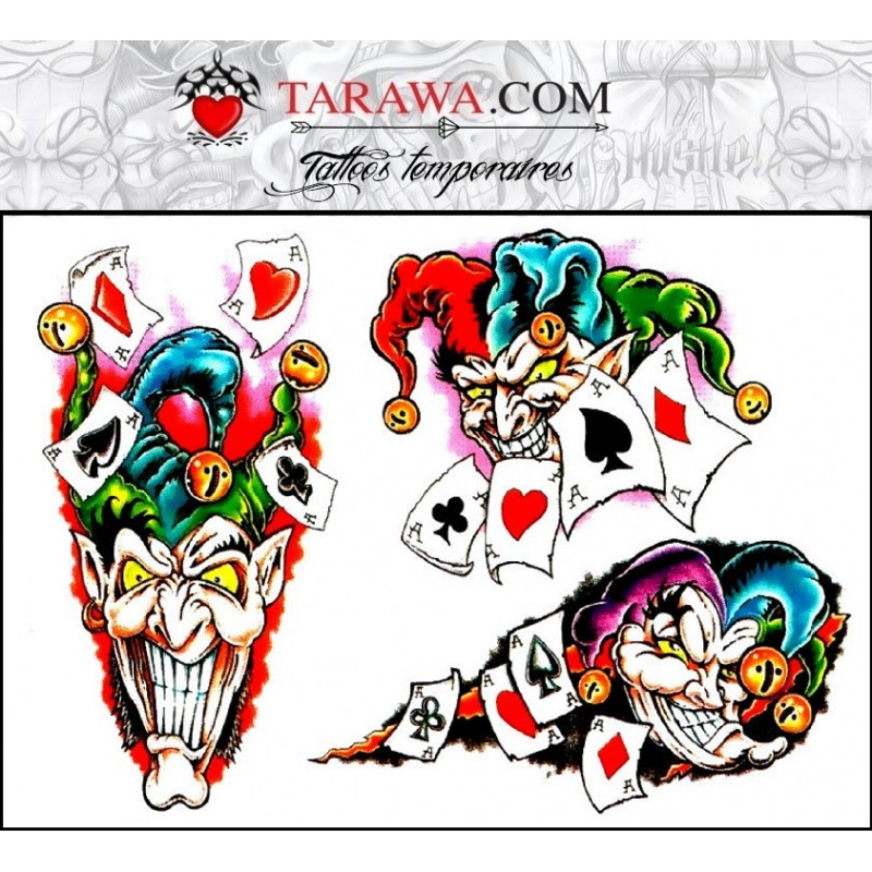 tatouage décalcomanie joker
