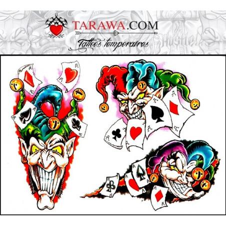 Tatouage Joker Autocollant