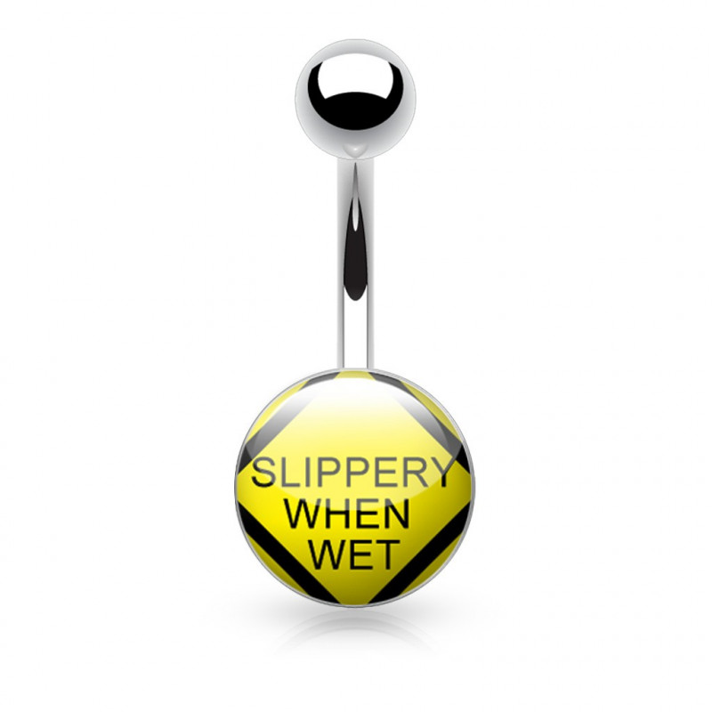 Piercing nombril logo Slippery when Wet