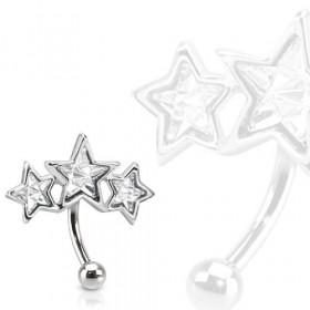 Piercing arcade triple étoile