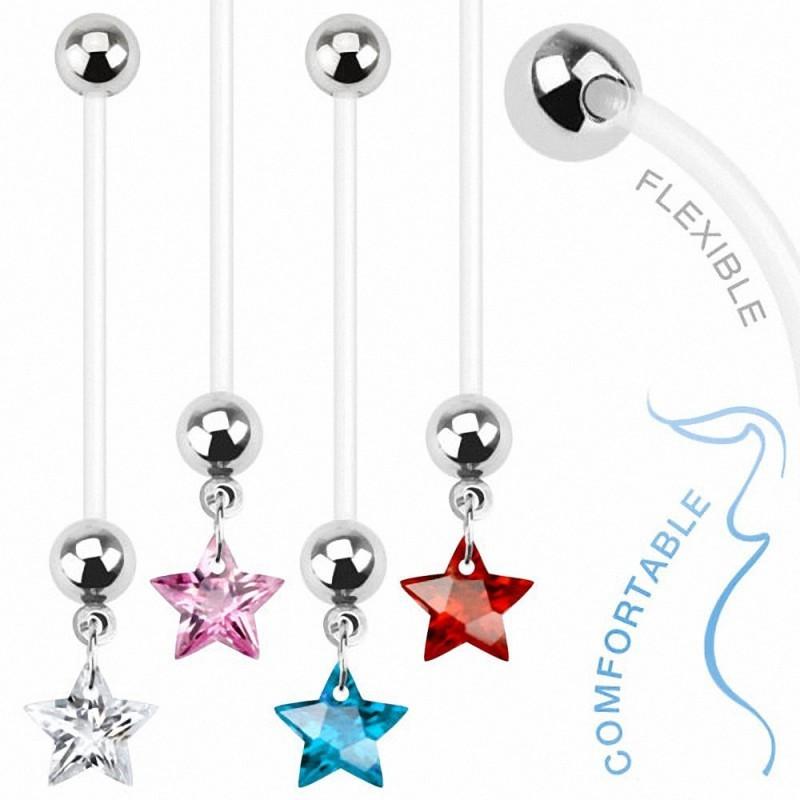 Piercing nombril femme enceinte motif étoile