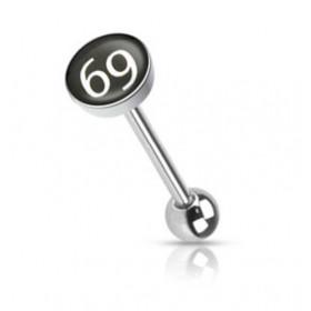 Piercing langue logo 69