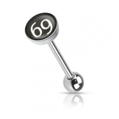 Piercing langue logo 69