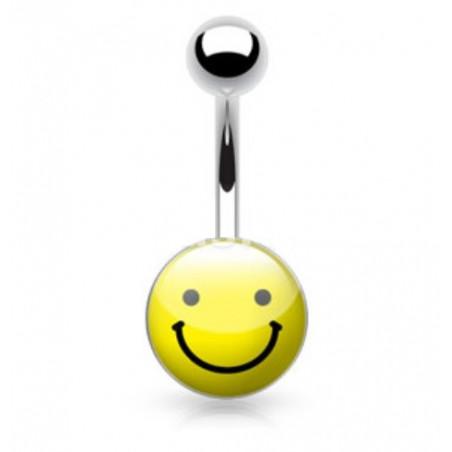 Piercing nombril logo Smiley