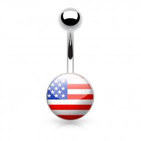 Piercing nombril logo Etats Unis USA