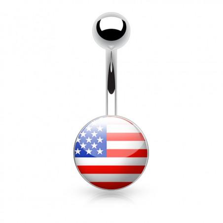 Piercing nombril logo Etats Unis