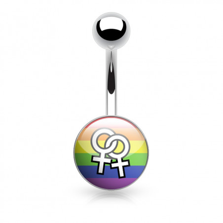 Piercing nombril symbole de la femme Gay Pride