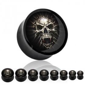 Piercing plug noir skelette