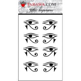 Tatouage éphémère oeil Horus
