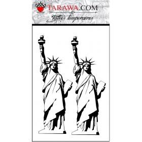 Tatuage éphémère Statue de la Liberté