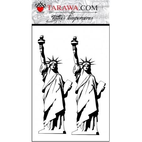 Tatouage éphémère Statue de la Liberté