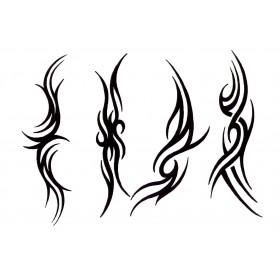 Planche Tattoo autocollant Bas de dos