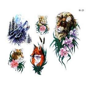 Tattoos temporaires Tigre et Loup
