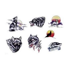 Tattoos Loups temporaires