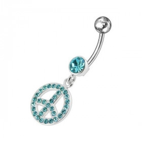 piercing ventre peace and love