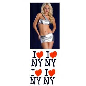 Tatouages temporaires I LOVE NEW YORK