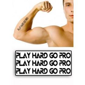 Tatouages temporaires Play hard Go Pro